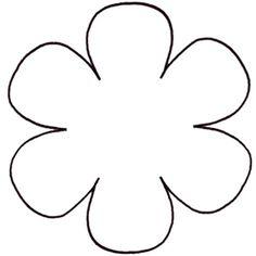 Printable Flower Daisy 8 petal