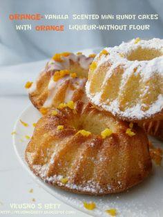 Портокалово-ванилови кексчета с портокалов ликьор - без брашно