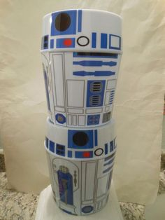 from $34.99 - 2 Disney #StarWars R2-d2 Droid Popcorn Bucket Bowl Container Snack Promo