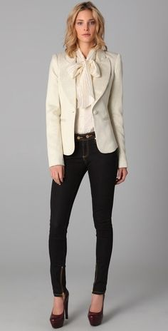 I love this Rachel Zoe jacket, especially with the skinny jeans.