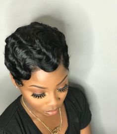 Finger Wave Wig Short Human Hair Wigs Brazilian Ocean Wave Non-Remy Human Hair Non-Lace Wigs finger wave wig Short Human Hair Wigs, Human Wigs, Remy Human Hair, Remy Hair, Short Cut Wigs, Finger Waves Short Hair, Finger Waves Natural Hair, Short Waves, Curly Hair Styles