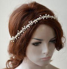 Bridal headband pearl headpiece  Pearl Wedding Headband