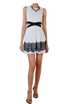 Lace Cut Out Dress - $78.00