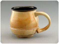 Porcelain Mug Cup With Black Interior. $34.00, via Etsy.