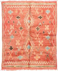 Rust Red 6' 4 x 7' 10 Nomadic Moroccan Rug | Oriental Rugs | eSaleRugs