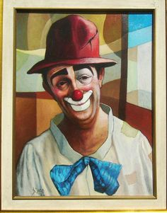 #Diego VOCI. Identified now as part of the Private #Collection of P. Mehler this #CLOWN (Oil on Canvas 42x32) more brilliantly displays Diego's tal… | Pinteres…