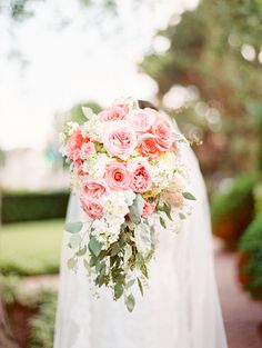 Cascading Rose Bouquet | photography by http://www.KristinLaVoie.com