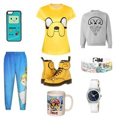 """""""Adventure Time!"""" by barley4l ❤ liked on Polyvore featuring Dr. Martens, CellPowerCases and Nixon"""