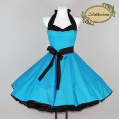 tyrkysová spodnička šaty Lisa - LolaBlossom.com