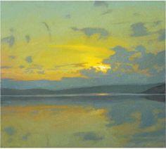 "Gillian Pederson-Krag, Seascape, Oil on Canvas, 16"" x 18"", 1993"