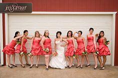 """Bridesmaids.... posing like the """"Bridesmaids"""" movie poster, fun!"""