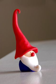 Adorable handmade gnomes, sculpted with polymer clay. on Etsy, $7.00: