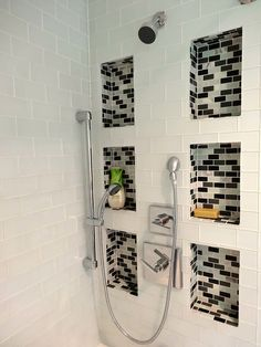 tiled shower niches  by On Bradstreet, via Flickr