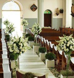 decoracion de iglesias para bodas - Buscar con Google