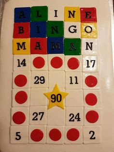 Bingo 90th birthday cake