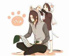Itachi and sasuke kawii