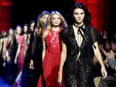 Star Tracks: Monday, October 5, 2015 | WALK-OFF | Kendall Jenner led the fashion pack while walking the runway during the Elie Saab show during Paris Fashion Week on Saturday.