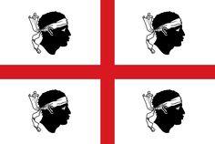 Official flag of the Autonomous Region of Sardinia (since 1999).