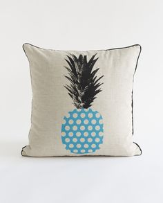Buy Blue - Retro Spot Pineapple Cushion | Mybuckett.com | Homeware | Home Decor | Cushions | Apparel