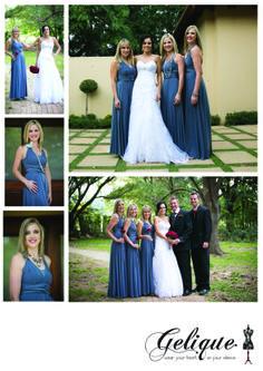 Gelique convertible bridesmaid dresses / infinity dresses  colour: Blue grey  http://www.geliqueonline.com/