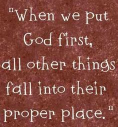 But seek first his kingdom and his righteousness, and all these things will be given to you as well. Matt 6:33 NIV
