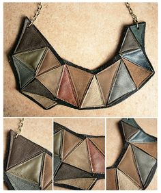 Leather Jewellery by Papuzzini Smellow, via Flickr