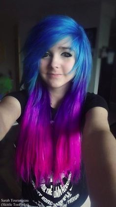 goth - Hair Styles - awesome goth by www.danazhairstyl… Best Picture For Beauty images For Your Taste You are lookin - Emo Haircuts, Trendy Hairstyles, Scene Hairstyles, Purple Hair, Ombre Hair, Galaxy Hair, Pink Galaxy, Emo Scene Hair, Goth Hair