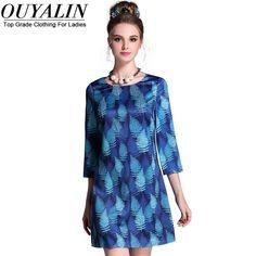 L- 5XL Beading Leafs Printed Autumn Dress 3/4 Sleeve O neck Slim Cut Short Mini Like it? http://www.artifashion.net/product/l-5xl-beading-leafs-printed-autumn-dress-34-sleeve-o-neck-slim-cut-short-mini/ #shop #beauty #Woman's fashion #Products