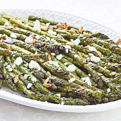 Roasted Asparagus with Goat Cheese & Balsamic Glaze