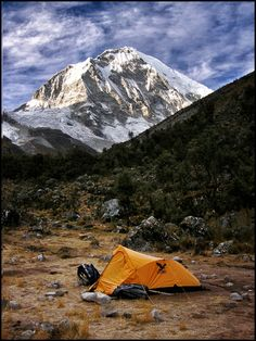 'Camping in these high-altitude valleys can make for the coldest nights of your life, but your first step into daylight is rewarded with soul-warming views of the jagged spine of glaciated peaks against an impossibly blue sky. Camping Spots, Camping And Hiking, Camping Life, Outdoor Camping, Outdoor Gear, Outdoor Store, Backpacking Gear, Trekking, Camping Sauvage