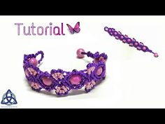 Macrame Bracelet Tutorial: Butterfly Wings - YouTube