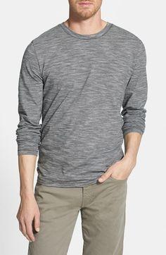 cfc331f4677466 BOSS HUGO BOSS  Leo  Slim Fit Long Sleeve Stripe T-Shirt available at