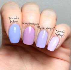 opi comparison Polly want a lacquer? – I'm gown for anything – Purple palazzo pants – You're such a Budapest