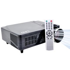 [$167.00] 2200 Lumens 640 x 480P 5.0 inch LCD Panel LED Home Theater Projector with Remote Control, Support HDMI / VGAI / S-Video / YPbPr/ Analog TV Input, 1000:1 (PRJ-D9HB)