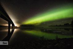 Aurora bridge by Tuomo Arovainio on 500px