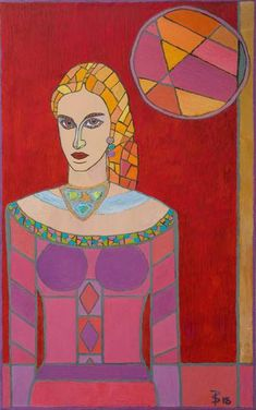 Original Portrait Painting by Ted Silvera Greek Paintings, Abstract Art Painting, Female Portrait, Mirror Painting, Art, Portrait Painting, Canvas Art, Folk Art Painting, Original Art
