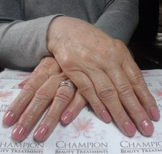 A dry manicure complete with CND Shellac 'Rose Bud' & 'Mother Of Pearl' nail polish