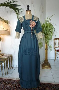 Titanic Era Reception Gown, Antique Gown, Antique Dress, Edwardian Dress, Evening Gown, Newcastle, ca. 1912