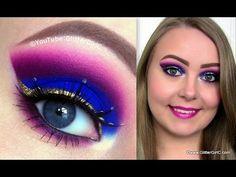 Arabic, Purple Cut Crease Makeup Tutorial using Sugarpill Cosmetics. Youtube channel: http://full.sc/SK3bIA