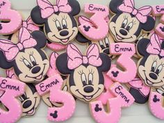 Minnie Mouse Birthday cookies two dozen / 12 Minnie by LuxeCookie