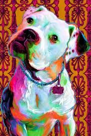 American Bulldog print Pit Bull dog art Staffordshire by artpaw Pitbull Terrier, Terrier Mix, White American Bulldogs, American Bulldog Puppies, Labrador Puppies For Sale, Pastel Artwork, Bullen, Yorkshire Terrier Puppies, Dog Portraits
