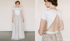 This Open-Back Version | 36 Ultra-Glamorous Two-Piece Wedding Dresses