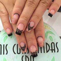 Nail Art Designs Videos, Nail Designs, Hot Nails, Hair And Nails, French Tip Nails, Makeup, Beauty, Color, Instagram