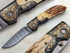 Johnny Stout Knives | Custom Knife by: Johnny Stout ~ Engraved by: Jim Small