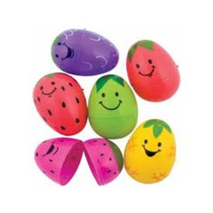 24 Cute Fruit Plastic Fillable Easter Eggs