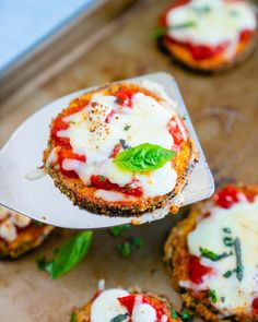 This baked Eggplant Parmesan is truly incredible: coated in a crispy crust that's magically gluten free. You'll never make it another way! | dinner recipes | eggplant recipes | italian recipes | vegetarian recipes | #eggplantparmesan #bakedeggplantparmesan #glutenfreeeggplantparmesan #easyeggplantparmesan #italianrecipe Roasted Eggplant Pasta, Baked Eggplant, Roast Eggplant, Grilled Eggplant, Eggplant Recipes, Vegetarian Cookbook, Vegetarian Recipes Dinner, Dinner Recipes, Gluten Free Eggplant Parmesan