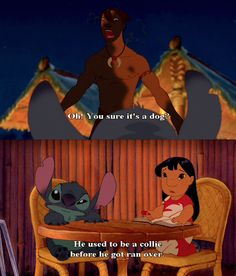 @Savannah Hall Steiger I told you they said this in the show! Don't ever doubt me when it comes to Lilo and Stitch. I shall get a collie now!