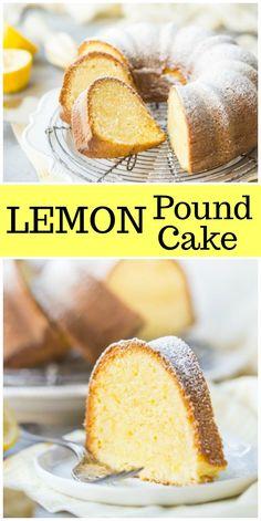 Classic, easy Lemon Pound Cake recipe : from RecipeGirl.com