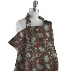 Bebe au Lait Nursing Cover - Mint Chocolate