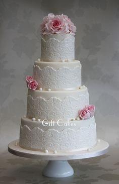 Lace, Roses Cake